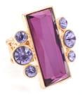 Maffig ring med kristaller