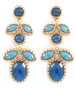 Ljuvliga droppörhängen i blått & turkost