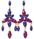 Sparkling star - vackra örhängen i lila