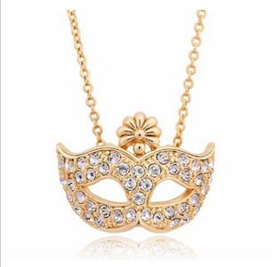 Halsband med glittrande mask