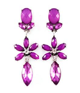 Ljuvliga droppörhängen i lila
