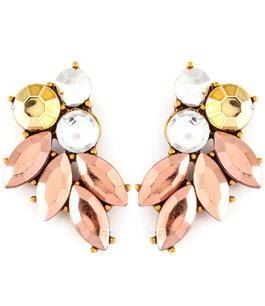 Underbara örhängen i skimrande gammelrosa, guld & kristall