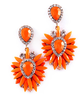 Serpentine earings / orangea