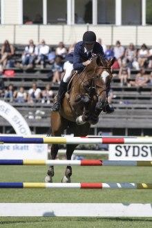 Claude Monet i Falsterbo Horse Show´s 6-års semifinal.