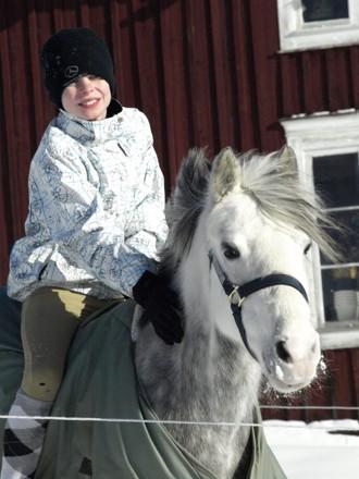 Albin med sin C-ponny Cayenne.