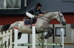 Lord Woltermort hoppar 1.20 med Kristina.