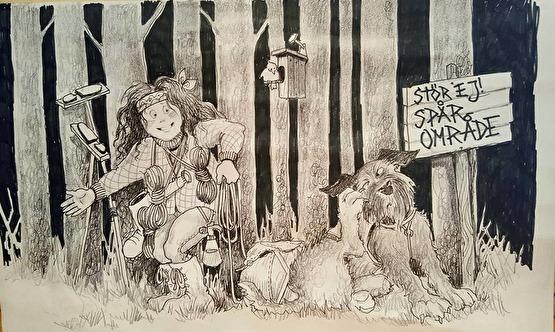 Dante.  Tecknare Reneé Persson Livh
