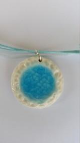 Porslin halsband - Porslin Halsband med glas.