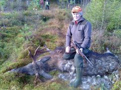 Nisse Olsson med 10-taggare. Kampberg okt. 2013