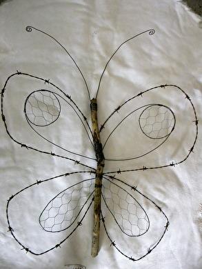 50x70cm stor fjäril