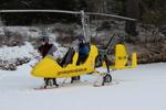 gyrokopter med skidor
