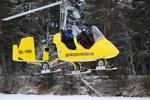 lågflygning med gyrokopter