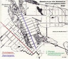 Generalplan för Norrmalm och Ladugårdslandet 1640