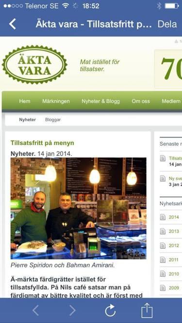 Ä-märket på menyn för första gången i Sverige!