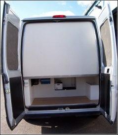 Exempel på isolerad bakvägg.