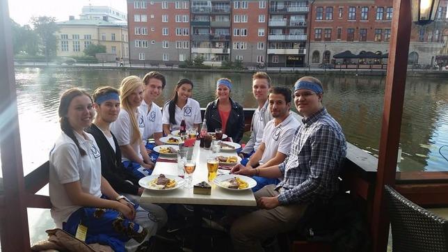 Faddrar och Rookies på en lite finare solig lunch på Tingsgården för ett par dagar sen.