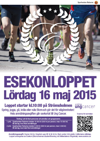 Bild: Sparbanken Rekarne sponsrar Esekonloppet med bl.a. affischer.