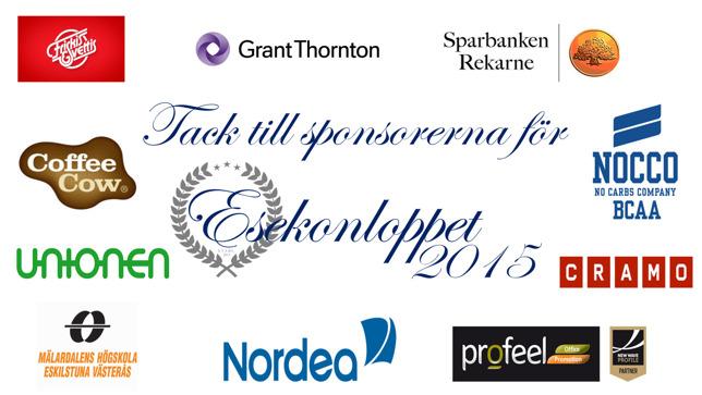 Bild: Samtliga sponsorer för Esekonloppet 2015.