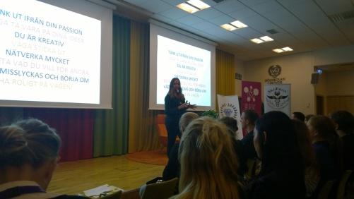 Emma Johansson föreläser om att hitta sin passion och att våga chansa.