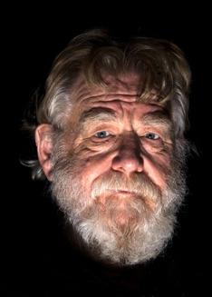"""""""The old man""""  Orginalbild till det laserskurna porträttmotivet"""