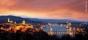 Budapest - vy över slottskullen upp mot Margitsziget