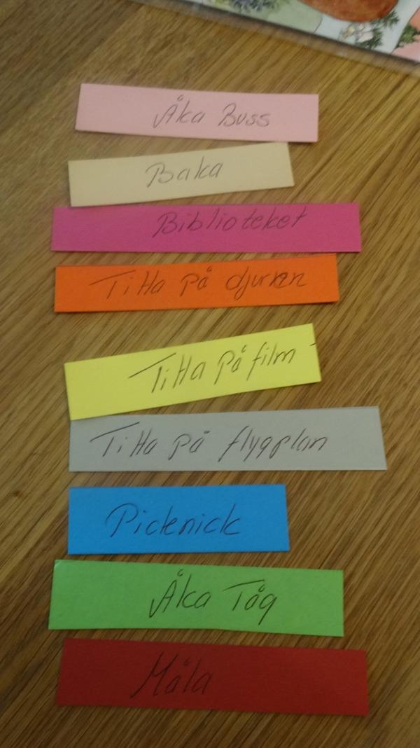 Här är några av barnens önskemål och förslag på vad dom vill att vi skall göra!