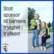 Tallkullens Familjedaghem samarbetar och sponsrar trafiksäkerhetskampanjen i Ekerö kommun, för en ökad trafiksäkerhet.