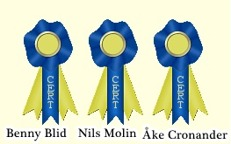x 3 Benny Blid, Nils Molin, Åke Cronander