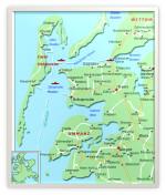 Karta över Rügen