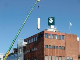 Linde Metallteknik AB - Tillverkning och montage av nya 6 st avgasningssilos samt 1 bönsilo till Zoégas i Helsingborg för utökning av malningskapaciteten. Varje silo försedd med 4 st lastceller för in-line vägning.
