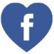 Facebook heart shaped free social media icon