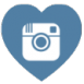instagram heart shaped free social media icon