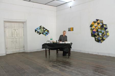 Artist-in-residence Kashi Art Gallery, Kochi, Indien