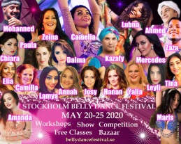Stockholms årliga magdansfestival på Södermalm  20-25 Maj 2020