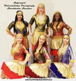 Dansgruppen Nefertari förgyller festen!