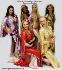 Dansgruppen Nefertari uppträder den 12 December med egyptiska danser