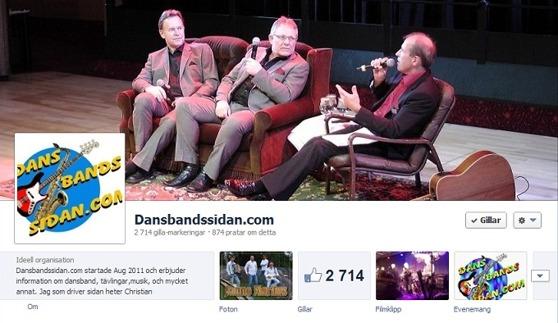 Klicka på bilden för att komma till Dansbandssidan.com på Facebook / Välkommen