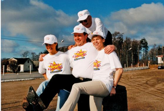 Olle, Monia, Bertil och Lena 1996 Foto Bert Lundqvist