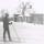 Margot på skidor 1966