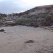 Nedanför Brodds Väg har vattnet grävt sig in. 13-10-29-4