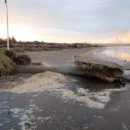 Blottad dagvattenledning i Mellbystrand. 13-12-07