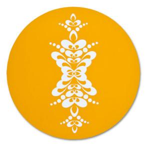 Grytunderlägg 21 cm med kurbits (REA) - Grytunderlägg 21 cm hjortronorange