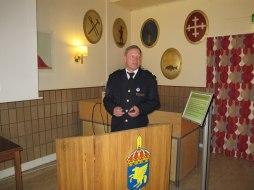 Kn Johnny Stål berättade med inlevelse om Livgrenadjärernas historia