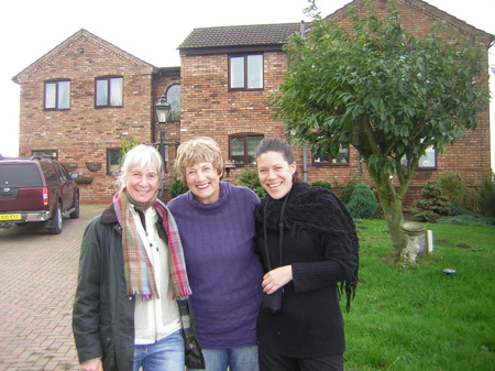 Från senast jag var i England. Till vänster i bild, min kollega Margareta Barath, Jan Fennell och jag