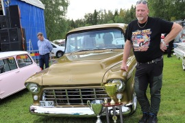 Vinnare Peoples Choice och Ten Outstanding - Pickis Chevrolet Stepside -55