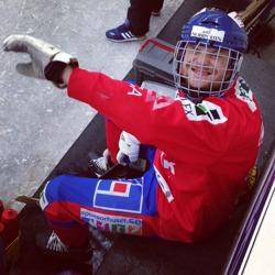 Kalle Högberg efter två hat-trick i helgen. Han kallas för övrigt Sväv eftersom han oftast har en mössa högt upp på huvudet. Foto: Nicklas Blomqvist