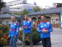 Christer Eriksson, Eric Öckerstedt och Rickard Carlsson. Den sistnämnde är vår nya försäljare och kanslist.