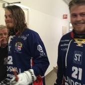 Härnösandsprodukterna Niklas och Henrik Söderlind nöjda efter vinst.