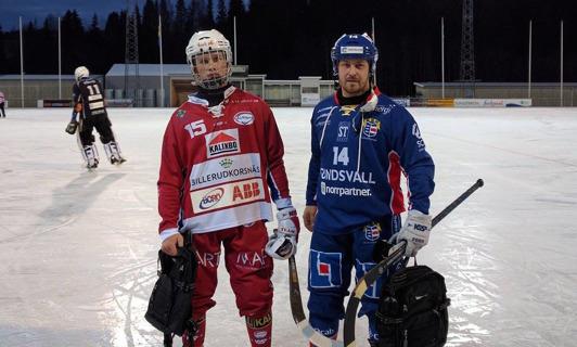 """Viktor Mardakin och Tobbe """"Greger"""" Sjödin utsågs till planens bästa spelare. Foto: Röntgenbild"""