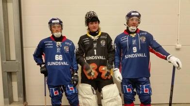 Willie, Muggen, Fredrik. De tre bröderna spelade idag första gången tillsammans i SSK:s färger.